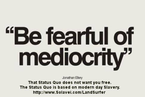 not want you free. That Status Quo is based on modern day slavery